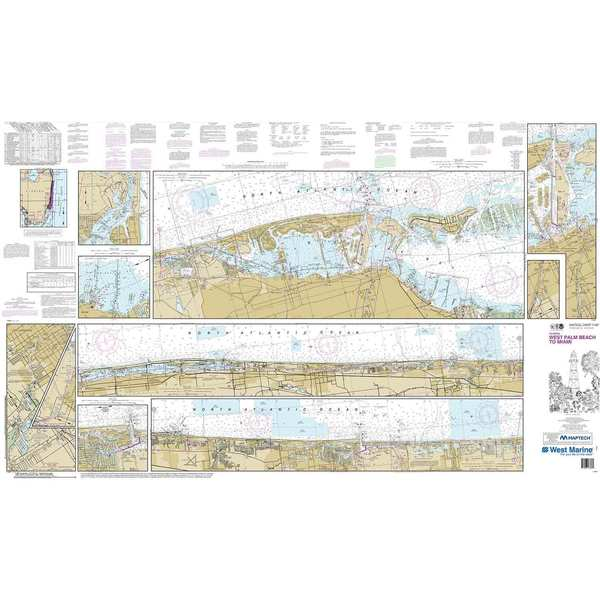 Maptech® NOAA Recreational Waterproof Chart-Intracoastal Waterway West Palm Beach to Miami (11467)
