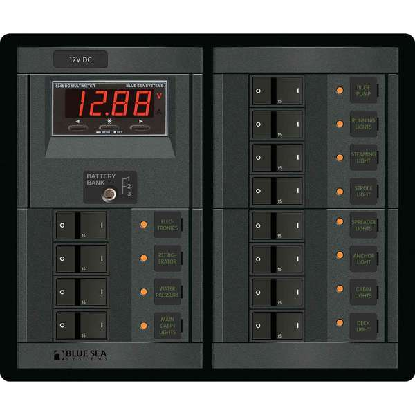 Blue Sea Systems 12-Position 12V DC Panel
