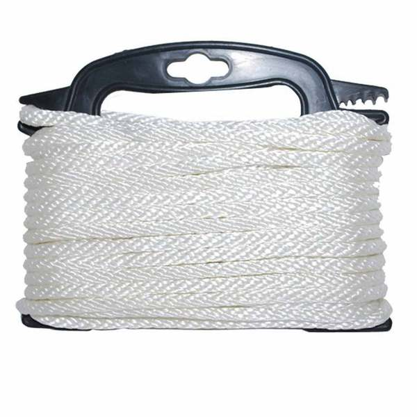 "3/16"" Dia. X 100' L Solid Braided Nylon Rope"