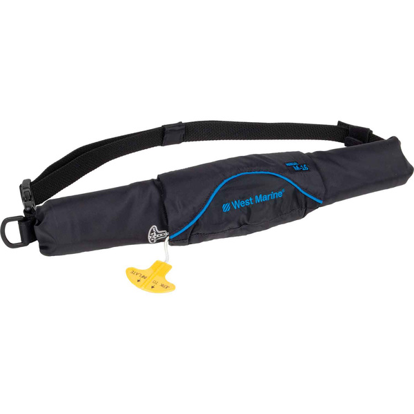 Ultra-Slim Manual Inflatable Life Jacket Belt Pack, Black