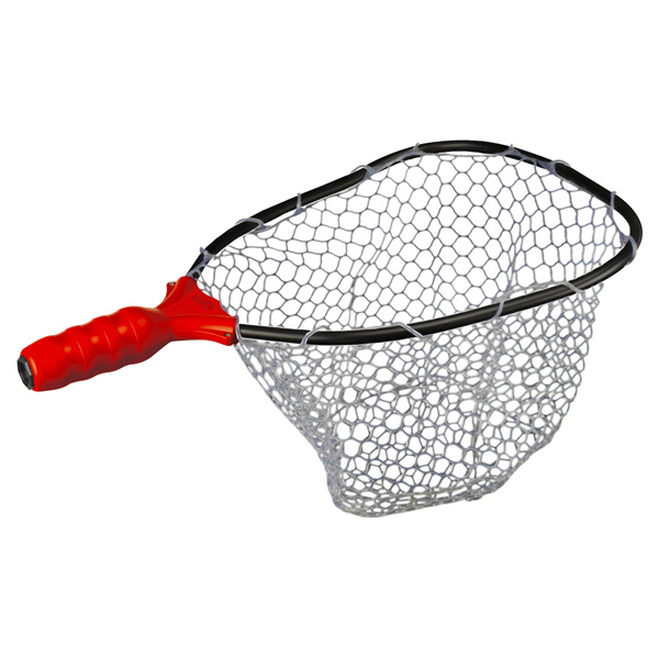 Ego small clear rubber landing net head west marine for Rubber fishing nets