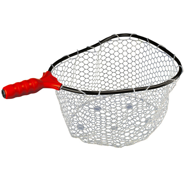 Ego medium clear rubber landing net head west marine for Rubber fishing nets