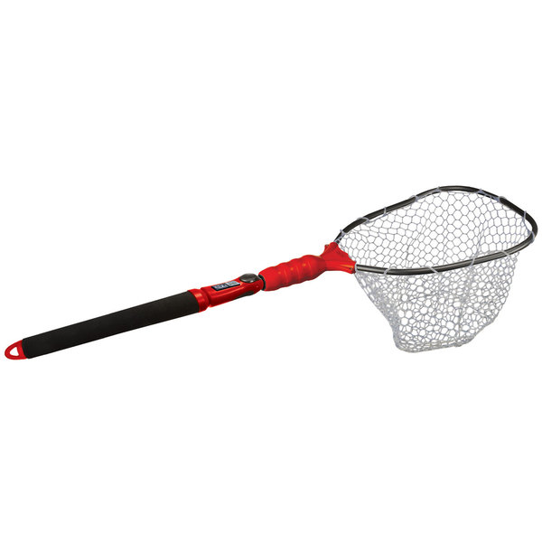 Ego s2 slider compact clear rubber landing net west marine for Rubber fishing nets