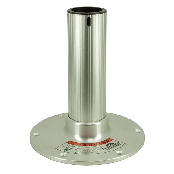 Springfield 10 fixed height regatta pedestal anodized for Fluted pedestal base