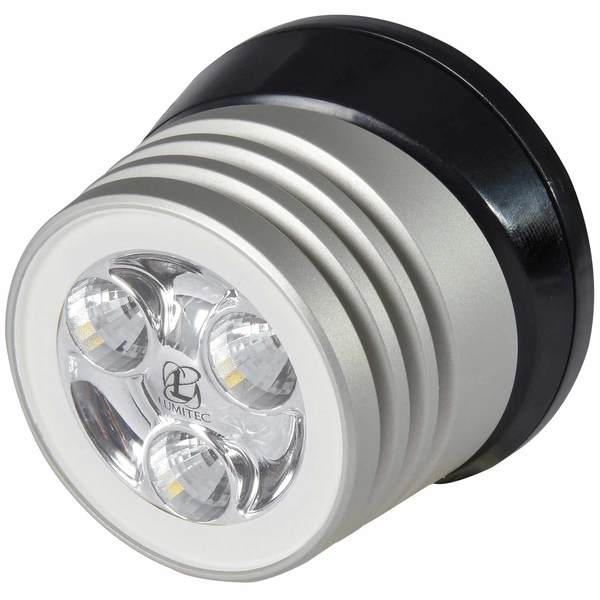 Zephyr LED Spreader/Deck Light, Brushed Black Base, White Non-Dimming
