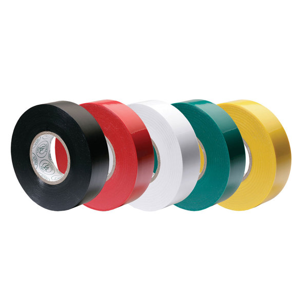 "Electrical Tape, Assorted Colors, 1/2"" x 20' x 7 mil"