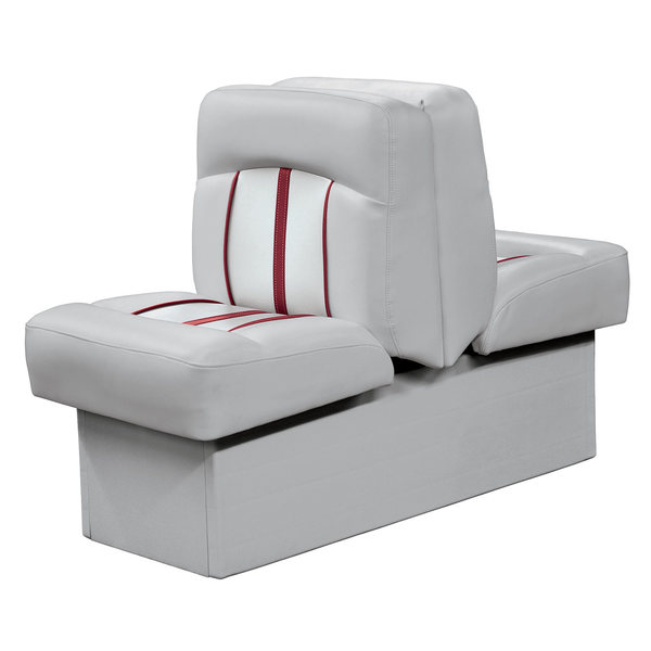 Wise Pinnacle Series Back to Back Lounge, Gray/Red Piping