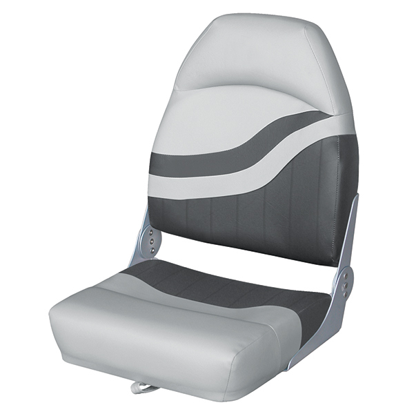 Wise seating high back fishing boat seat west marine for Fishing boat seat