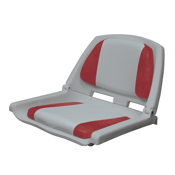 Wise seating folding plastic fishing boat seat west marine for Fishing boat seat