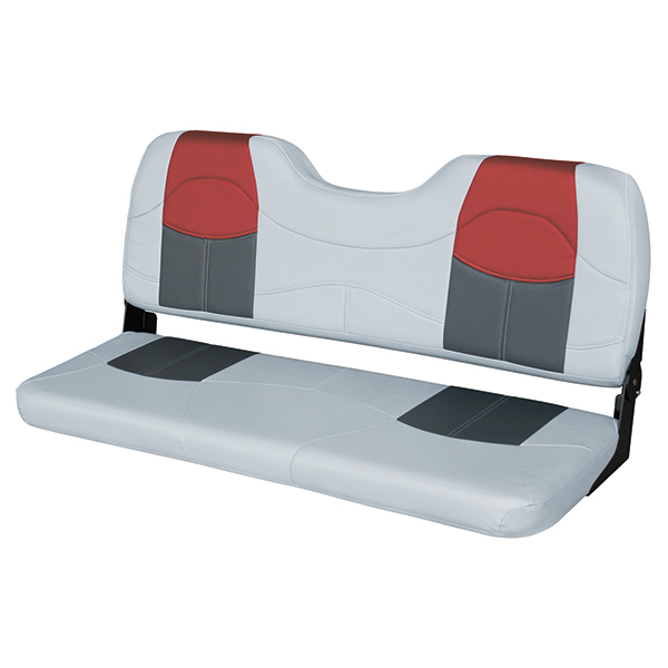 Wise Seating 48 Quot Bench Seat Gray Charcoal Red West Marine