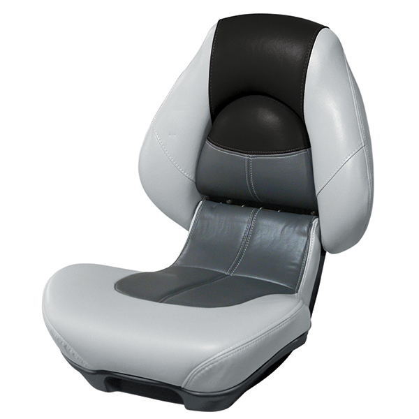 WISE SEATING Blast-Off Centric 2 Boat Seat, Gray/Charcoal/Black | West Marine