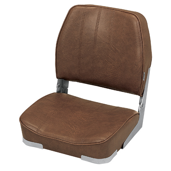 Wise seating promotional low back folding boat seat brown