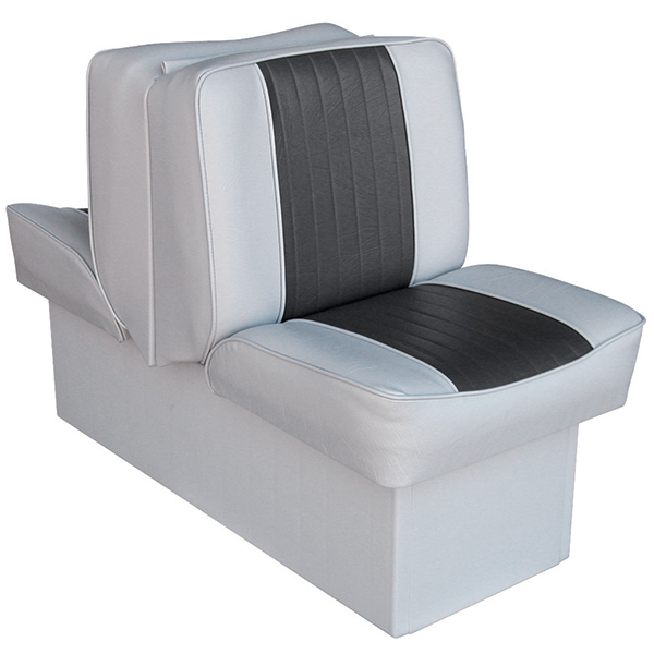 "10"" Base Run-a-Bout Lounge Seat, Gray/Charcoal"