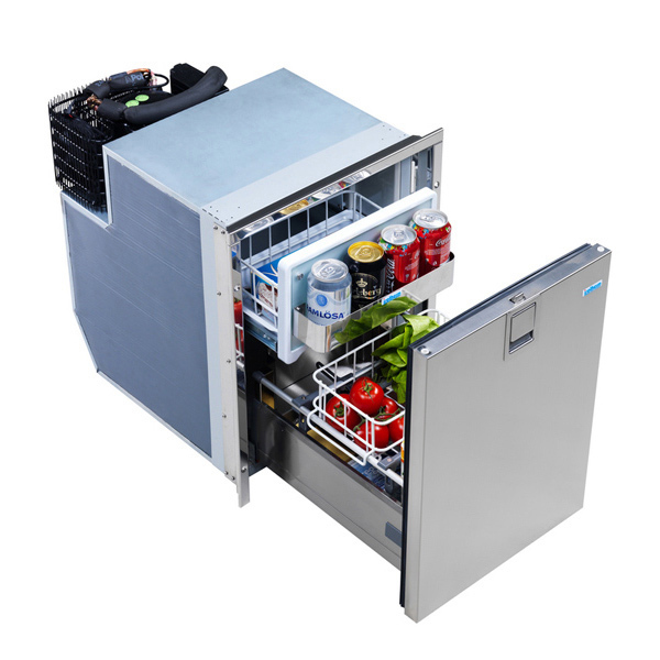 Drawer 49 INOX Refrigerator With Freezer Compartment, Stainless Steel Door,  4 Sided Stainless