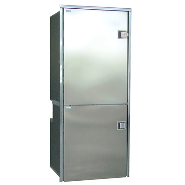 CR-195 INOX, Left Swing, Stainless Steel Doors & Panels, 3-Sided Stainless Steel Flange, AC/DC
