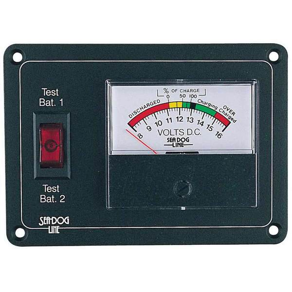 Single Marine Battery Voltage Monitor : Sea dog analog battery monitor with rocker switch panel