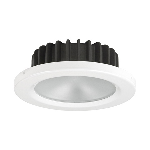 PowerLED Downlight 10 to 30V DC White Trim Ring Green LED IP65