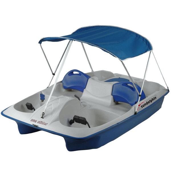 Sun Slider Pedal Boat with Canopy, Blue