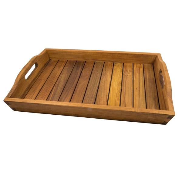 Shower and Spa Tray with Oiled Finish