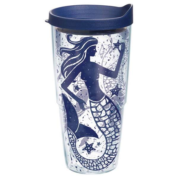 24 oz. Mermaid Collage Tumbler with Lid