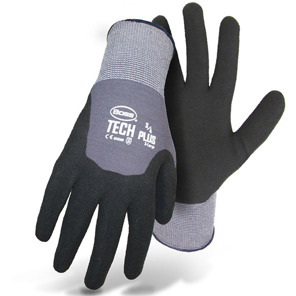 TECH™ Plus Gloves, 3/4 Dipped Nitrile, Large