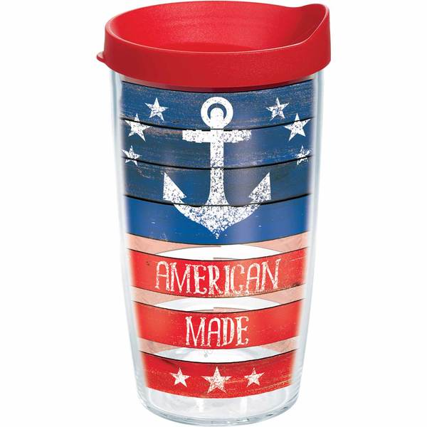 16 oz. American Made Anchor Tumbler with Lid