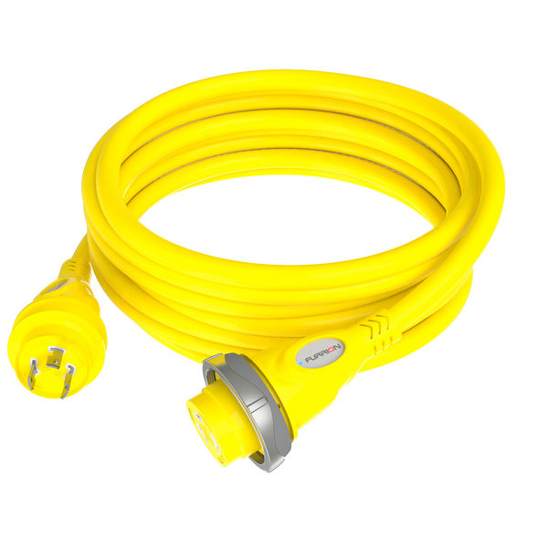 Marine Electrical-Furrion 30A Yellow Marine Cordset with LED, 50'