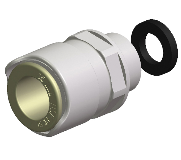 "Hose Connector Tube—15mm to 1/2"" (Brass)"