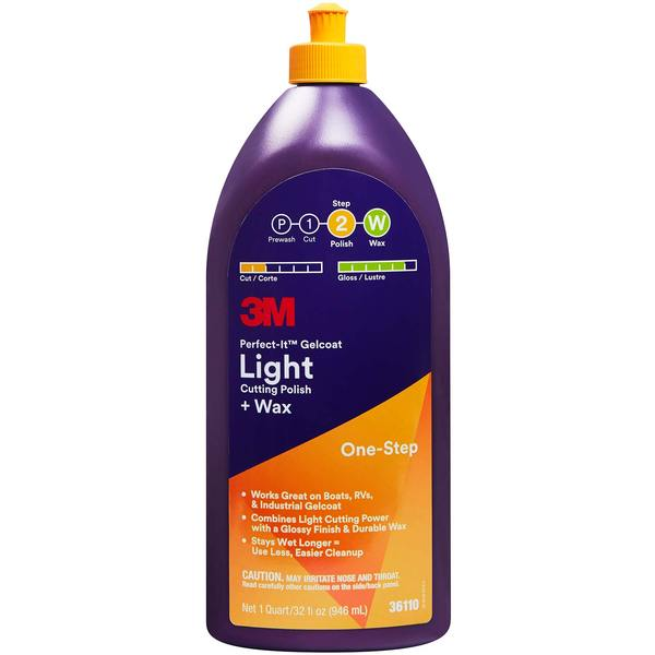 3m Perfect It Gelcoat Light Cutting Polish Wax Quart