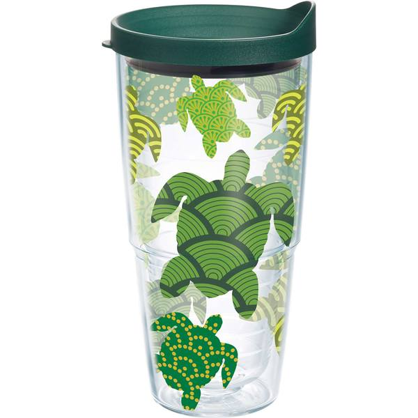 24 oz. Turtle Pattern Wrap Tumbler with Lid