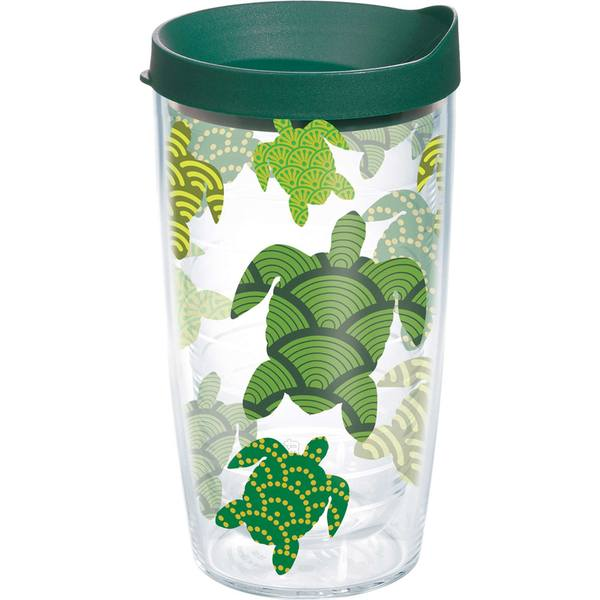 16 oz. Turtle Pattern Wrap Tumbler with Lid