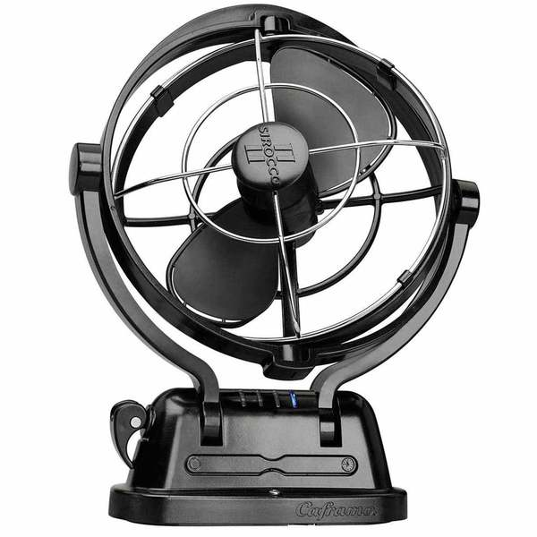 Sirocco II Cabin Fan, Multi-Position, Black