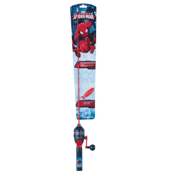 Shakespeare spiderman fishing kit west marine for Spiderman fishing pole