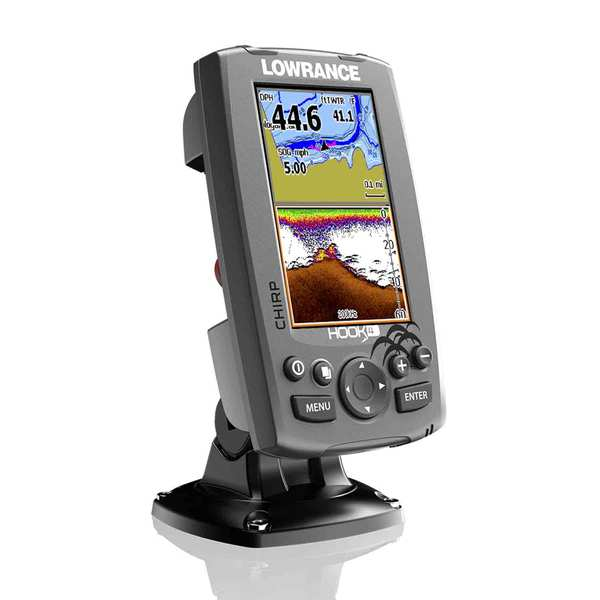Hook-4 Fishfinder/Chartplotter with CHIRP, DownScan Transducer, Nautic  Insight™ Pro Cartography