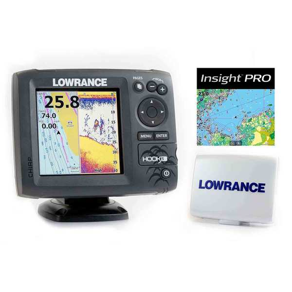 Lowrance hook 5 fishfinder chartplotter with chirp for Academy sports fish finders
