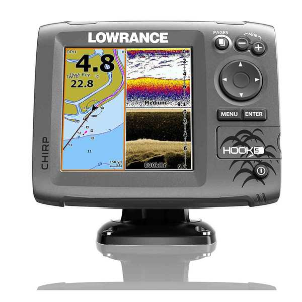 Hook-5 Fishfinder/Chartplotter with CHIRP Transducer, Nautic Insight™ Pro Charts