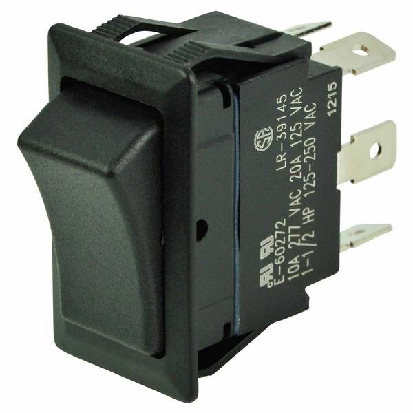 Rocker Switch, On/Off/On, DPDT