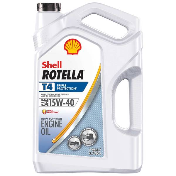 Shell Rotella T4 >> SHELL 15W-40 Rotella T4 Triple Protection Motor Oil ...