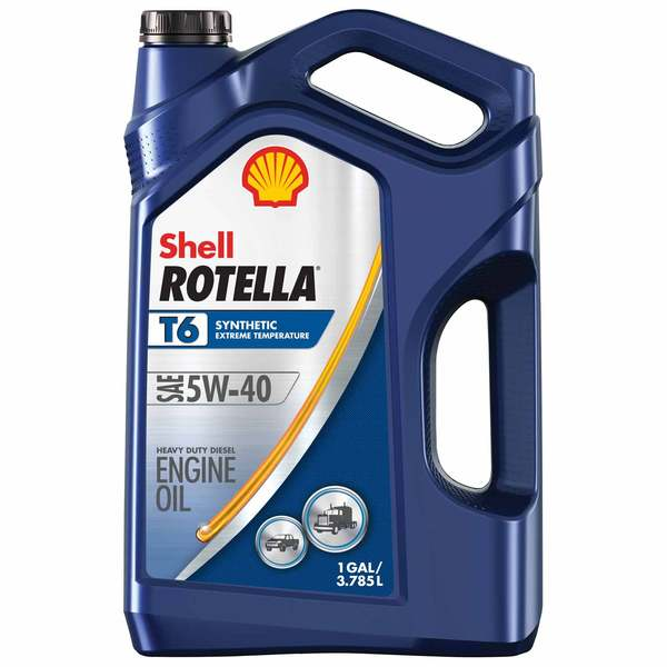 Shell 5w 40 Rotella T6 Synthetic Diesel Engine Oil Gallon