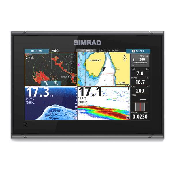 Simrad GO9 XSE Multi-Function Navigation Display and HDI Transducer
