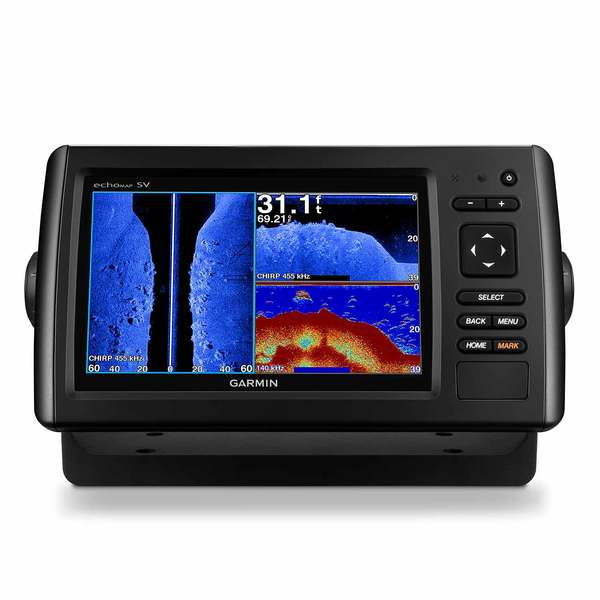 Garmin Echomap Chirp 73sv Fishfinder Chartplotter Combo With Clearv 252 Sidev 252 Transducer And
