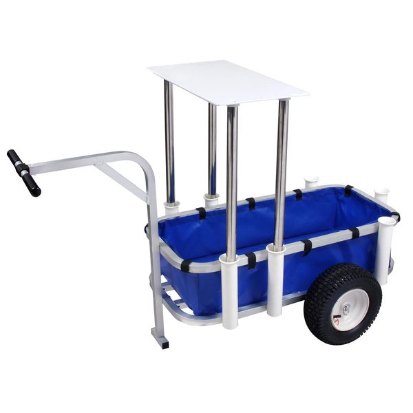 Sea striker deluxe beach surf fishing cart west marine for Beach fishing carts