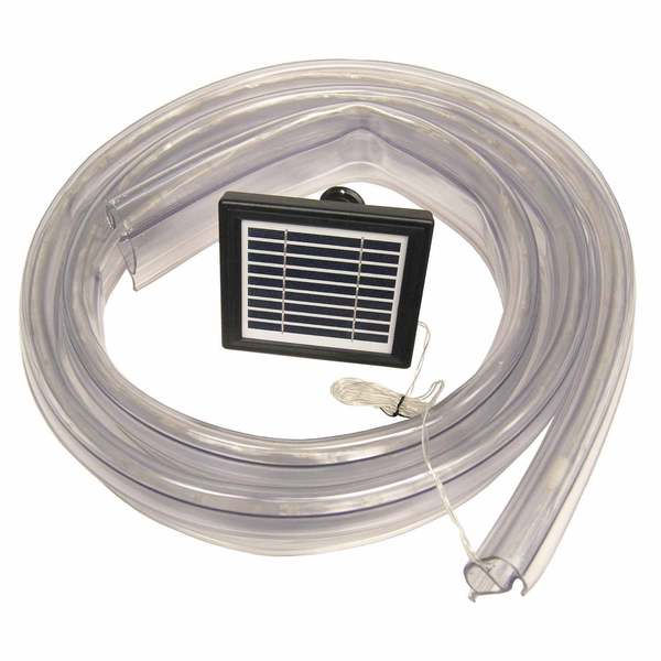 "ClearVue ""P"" Shape Standard Dock Edging with Integrated Solar LED Rope"