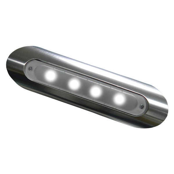 Image of Taco Marine 4-LED Pipe-Mount Deck Light, Aluminum Housing
