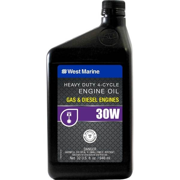 West Marine Premium Sae 30w 4 Cycle Heavy Duty Engine Oil Quart
