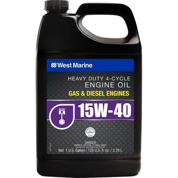 Premium 4-Cycle Heavy Duty Engine Oil, SAE 15W-40, Gallon