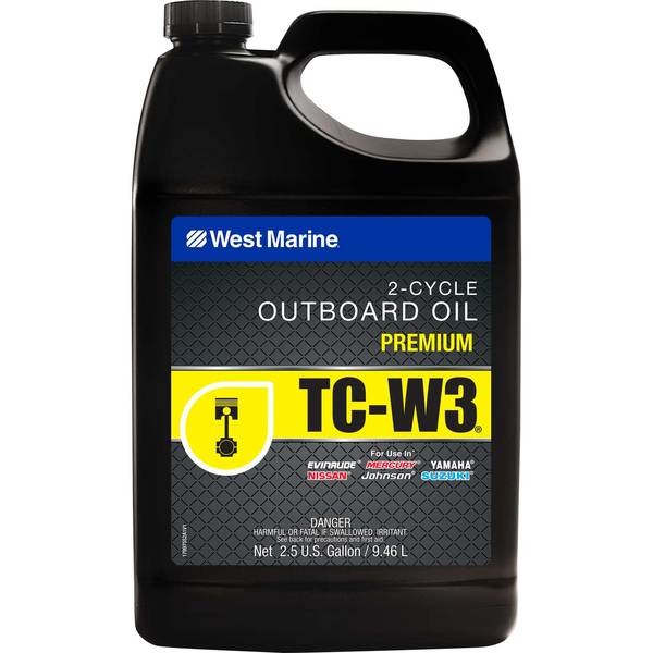 Premium 2-Cycle TC-W3 Outboard Oil, 2.5 Gallon
