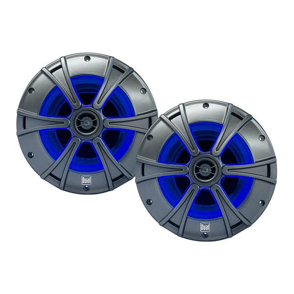 "8"" 2-Way Marine Speakers with Blue illumiNITE™ LED Lighting"