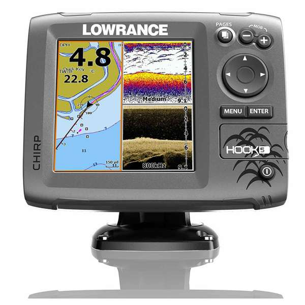 Hook-5 Fishfinder/Chartplotter Combo with Med/High/DownScan Transducer and C-Map Nautic Insight™ PRO Charts