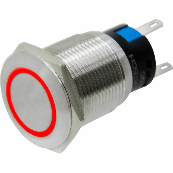Mini LED Push Button On-Off Power Switch